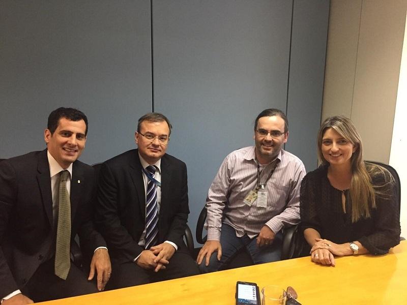 Procurador Francisco Guilherme Bastos (MPF); Antonio Barros, do OS Brasília; Everton Kischlat, do IFC; e promotora Luciana Asper (MPDFT)