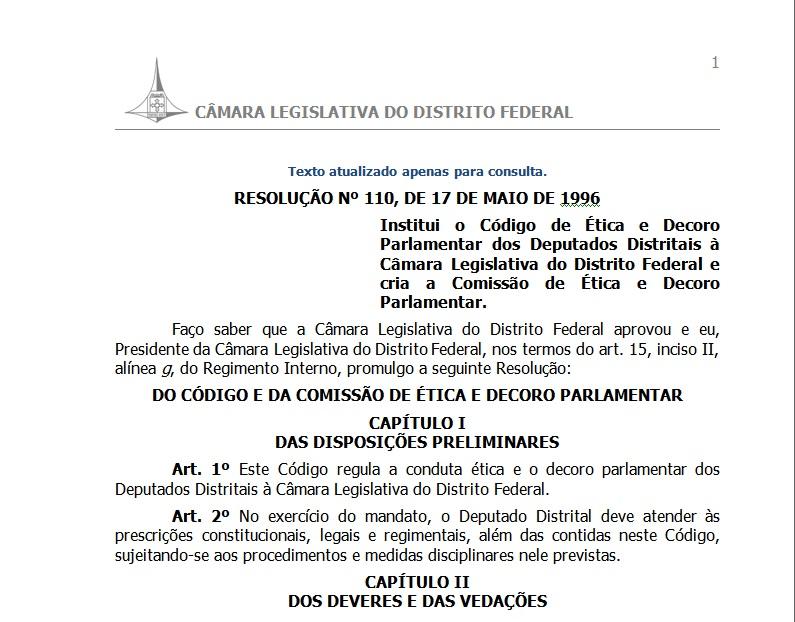 Código de Ética da CLDF