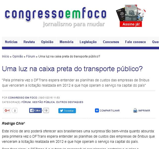 Congresso em Foco 09 01 2015