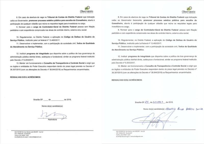 Carta-compromisso 2018